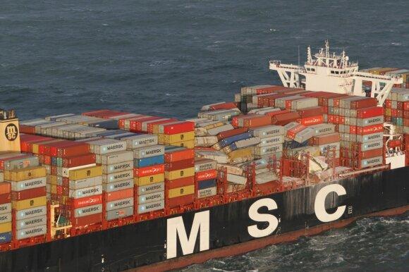 Olandijos saloje rasta pavojingos medžiagos iš laivo pamesto krovinio