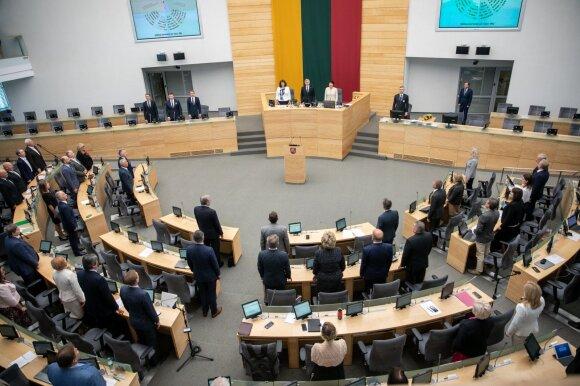 Balsavimas dėl Seimo vadovo Pranckiečio atstatydinimo žlugo