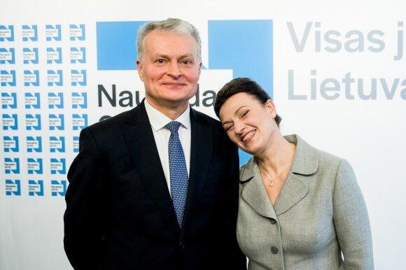 Gitanas Nausėda ir  Diana Nausėdienė