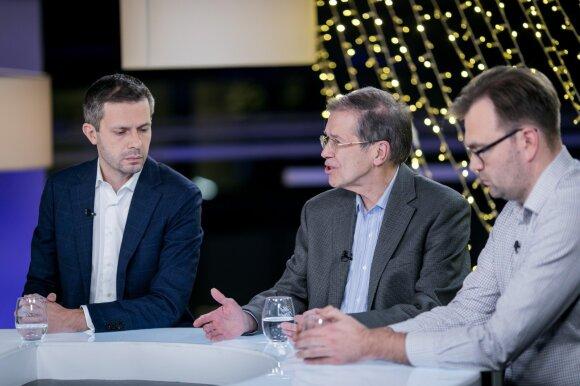 Andrius Tapinas, Kęstutis Girnius ir Mykolas Katkus