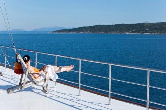 Kroatijos grožybės - iš laivo denio