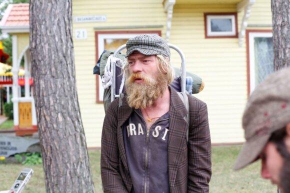 Palangos gatvės muzikantas iš Estijos Rainas
