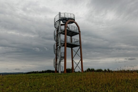 Didžiasalio apžvalgos bokštas (Sirvėtos regioninio parko direkcijos nuotr.)