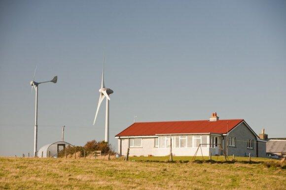Mažosios vėjo jėgainės, skirtos pasigaminti energiją individualiam namui