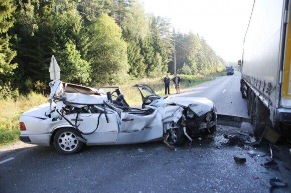 Tragiška avarija Vilniaus rajone
