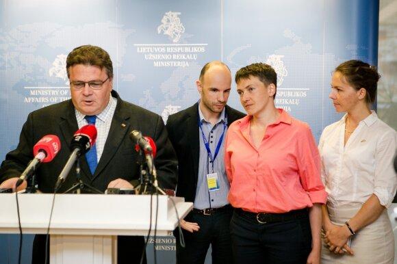 Linas Linkevičius ir Nadežda Savčenko