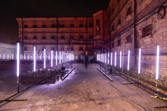 Во дворе Лукишкской тюрьмы оборудовали альтернативное рождественское пространство