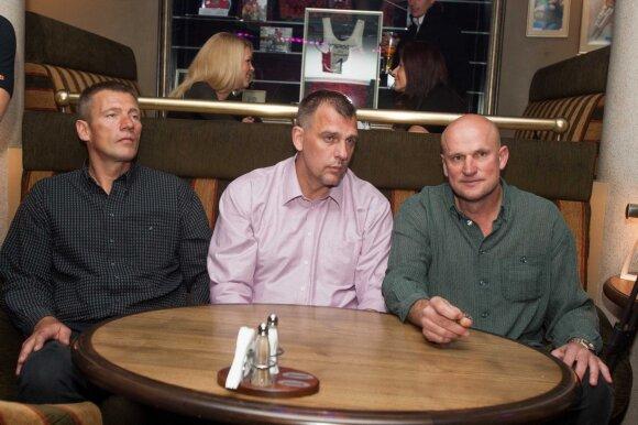 Arūnas Visockas, Gintaras Einikis ir Romanas Brazdauskis