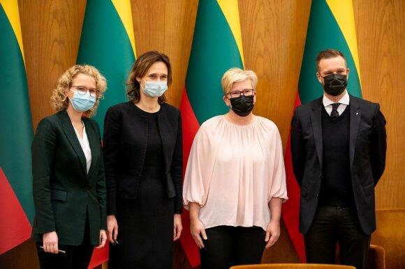 Aušrinė Armonaitė, Viktorija Čmilytė-Nielsen, Ingrida Šimonytė, Gabrielius Landsbergis