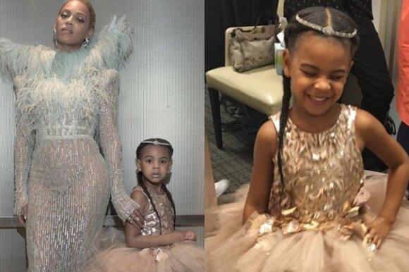 Beyonce su dukrele Blue Ivy Carter