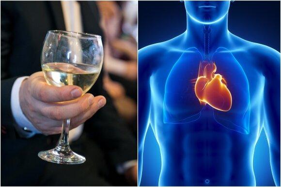 Širdies ligos ir alkoholis