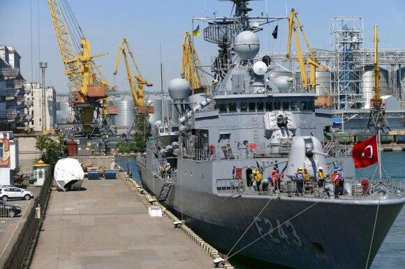 """Turkijos karo laivas """"TCG Yildirim"""""""
