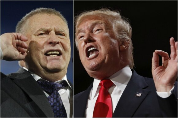 Vladimiras Žirinovskis ir Donaldas Trumpas