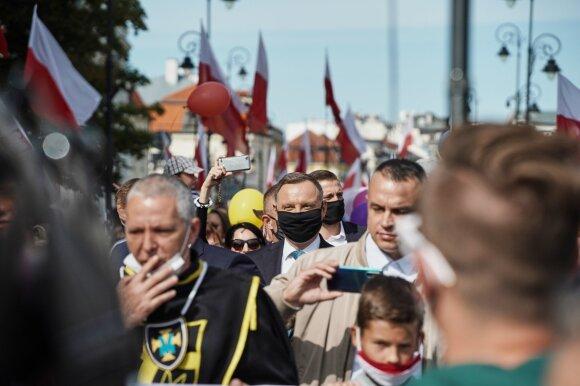 """Andrzejus Duda eitynėse """"Už gyvybę"""" (Dariusz Golik / """"Fundacja reporterów nuotr.)"""