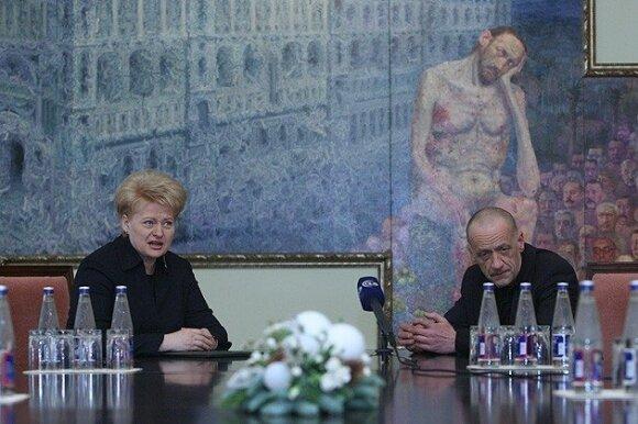 Šarūnas Sauka ir Dalia Grybauskaitė
