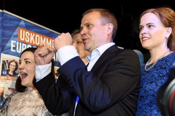 """""""Koalicijos partija"""" pirmauja EP rinkimuose Suomijoje"""