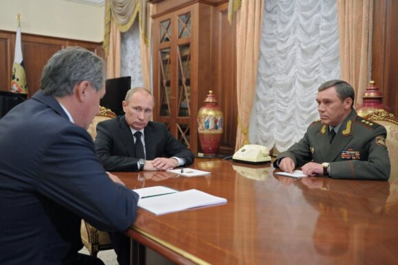 Vladimiras Putinas, Sergejus Šoigu, Valerijus Gerasimovas
