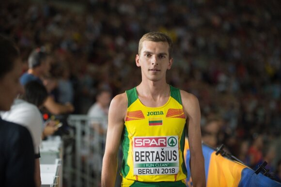 Europos lengvosios atletikos čempionato 1500 m finale Simas Bertašius liko šeštas