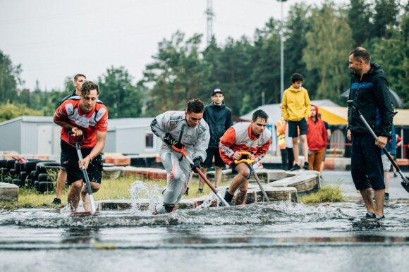 Lenktynėse savaitgalį Rokui Baciuškai buvo permainingos: trukdė ne tik lietus, bet ir skausmas