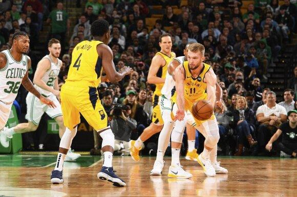 NBA: Bostono arenoje vykęs Celtics ir Pacers mūšis