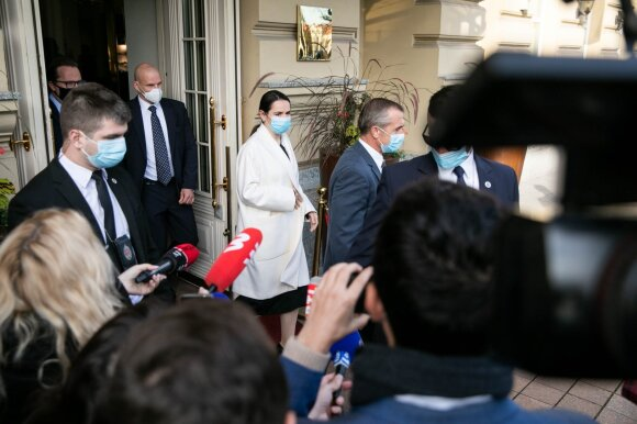 Lietuviams Macronas išdėstė savo viziją: negalima pasitikėti vien JAV
