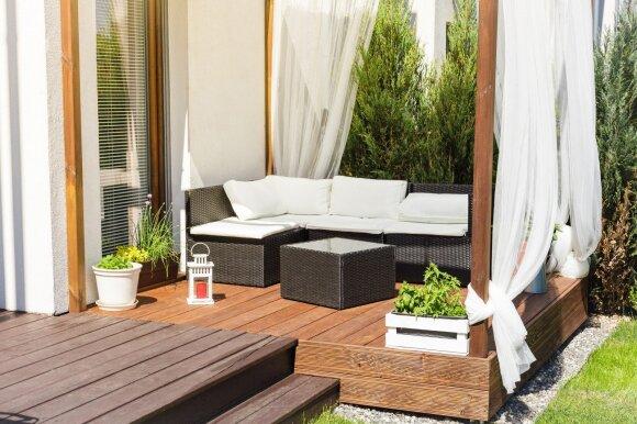 Idėjos sodo terasai