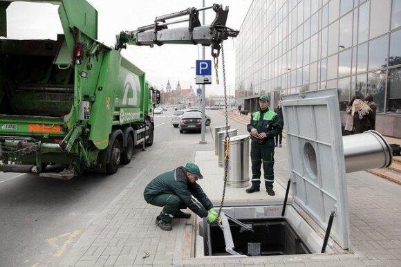 Požeminiai konteineriai Vilniuje