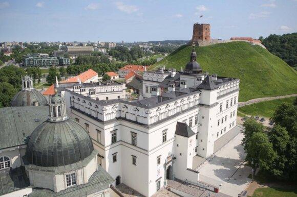Vilnius' palace and Gediminas tower