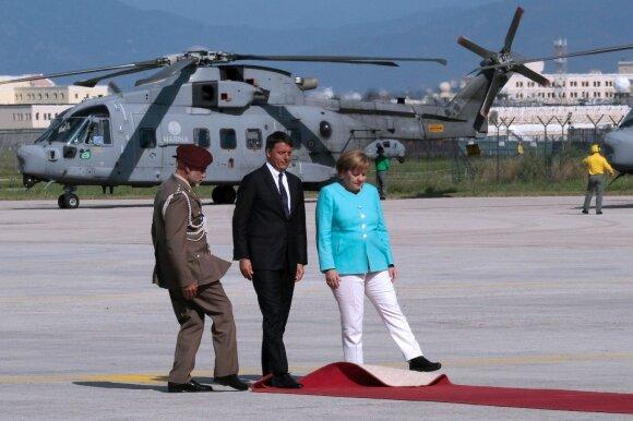 Matteo Renzi, Angela Merkel