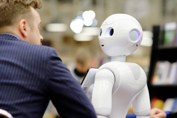 Knygyno klientus konsultuos robotas