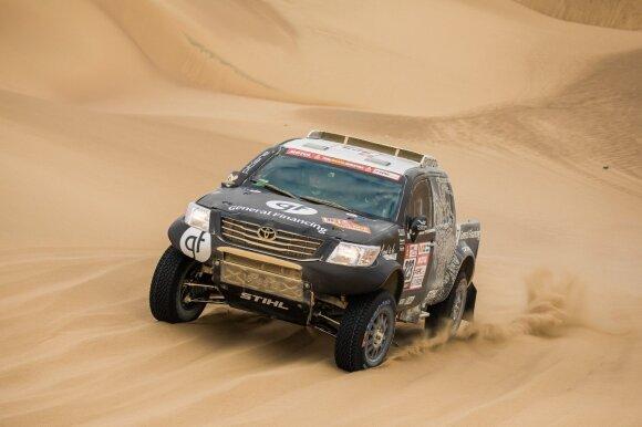 Trečiasis Dakaro 2018 etapas: finišą pasiekė visi Lietuvos ekipažai, iš lietuvių greičiausias buvo Juknevičius