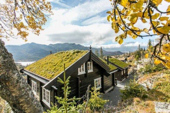 Rąstiniai namai Norvegijoje