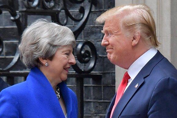 Theresa May, Donaldas Trumpas