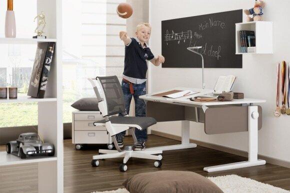 Augantys vaikiški baldai ir kitos ergonomikos paslaptys