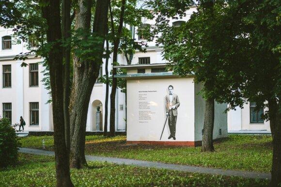 """Gatvės meno piešinys skirtas modernistui Henriui Parlandui """"Henry Parland"""", ( aut. T. Šimkus), nuotraukos aut. A. Aleksandravičius."""