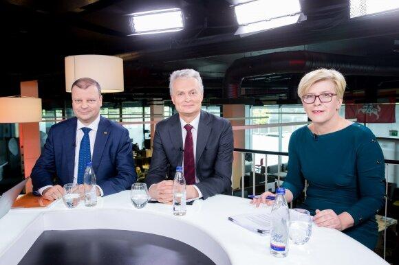 Saulius Skvernelis, Ingrida Šimonytė ir Gitanas Nausėda