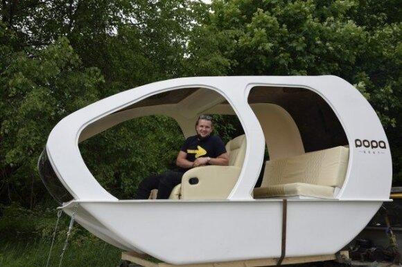 Klaipėdiečio garaže sukurtas ateities laivas