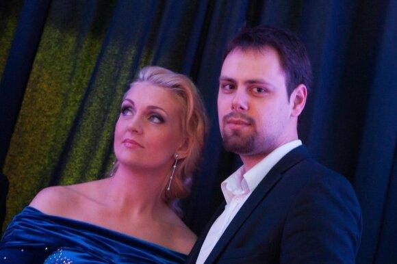 Rūta Ščiogolevaitė with her fiance