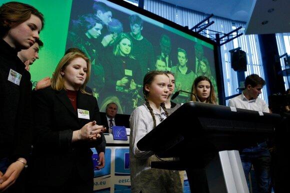Greta Thunberg klimato kaitos streikuose