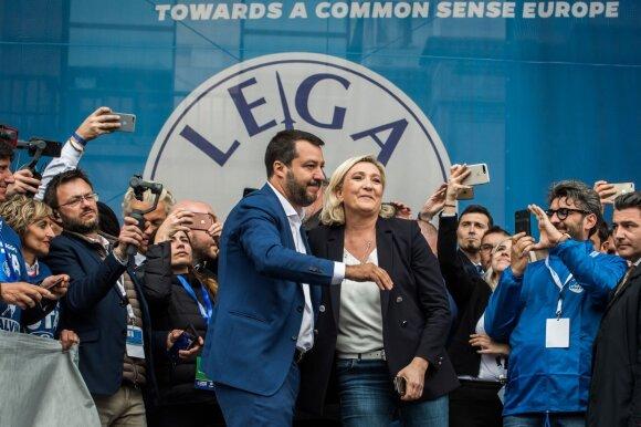 Matteo Salvini, Marine Le Pen