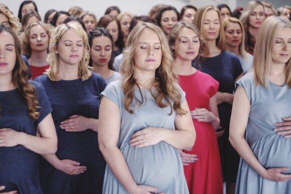 100 nėščiųjų fotosesija