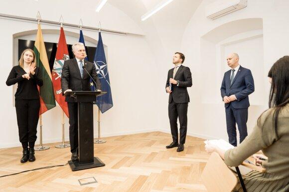 Gitanas Nausėda, Antanas Bubnelis, Aurelijus Veryga