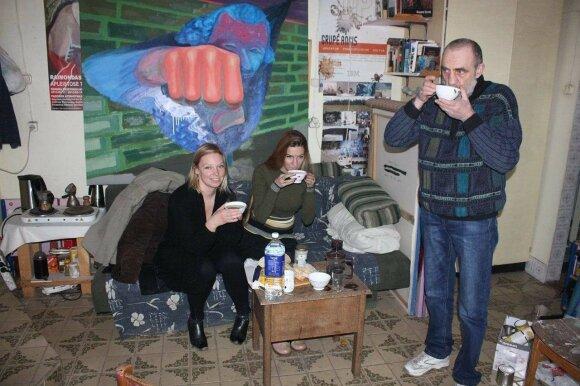 Aistė Gabrielė Černiūtė ir Rebeka Bruder vieši Raimondo Gailiūno studijoje