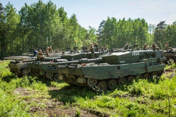 "Lietuvoje dislokuoti Norvegijos tankai ""Leopard II"""