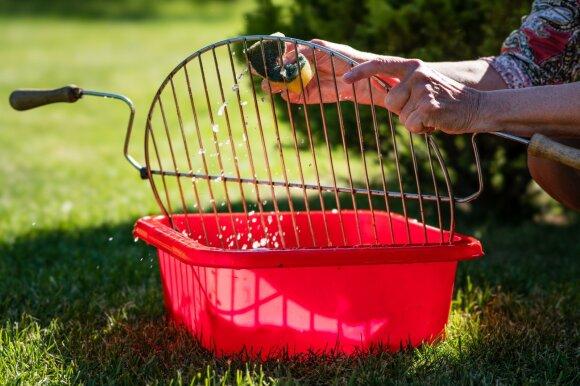 Kaip valyti grilį