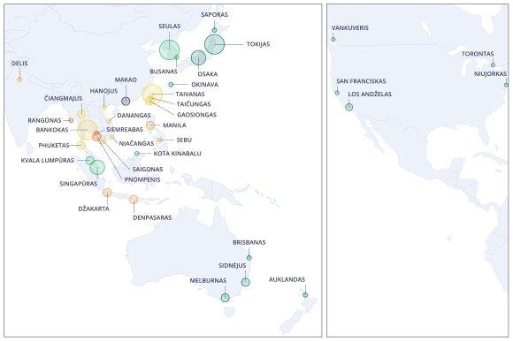 Koronavirusui plintant už Kinijos ribų sudarė karščiausių Europos oro uostų žemėlapį