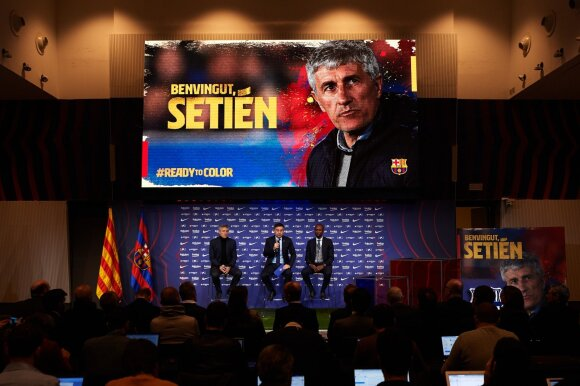 Quique Setieno pristatymas Barselonoje