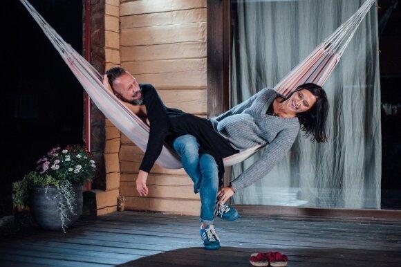 Linas Adomaitis su žmona / Foto: Pijaus Vyčo