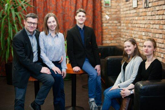 Mirga Gražinytė-Tyla su šeima