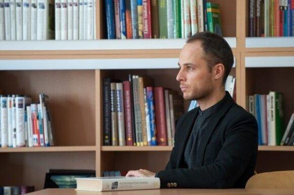 Vilniaus Užupio gimnazijos skaitykloje (nuotr. B. Barausko)